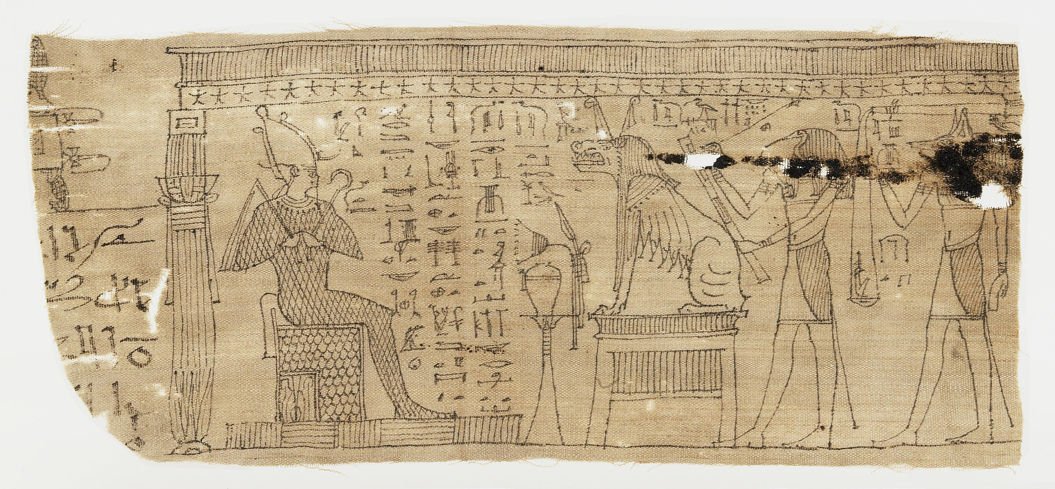 Fragmenten van het Dodenboek op mummiewindel