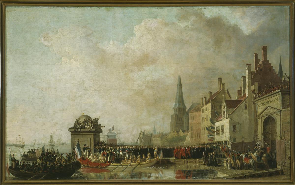 Studie voor het schilderij 'Intrede van de 1ste consul Napoleon te Antwerpen in 1803'