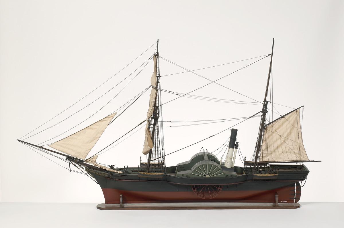 """Scheepsmodel van het raderstoomschip """"Elisa"""""""