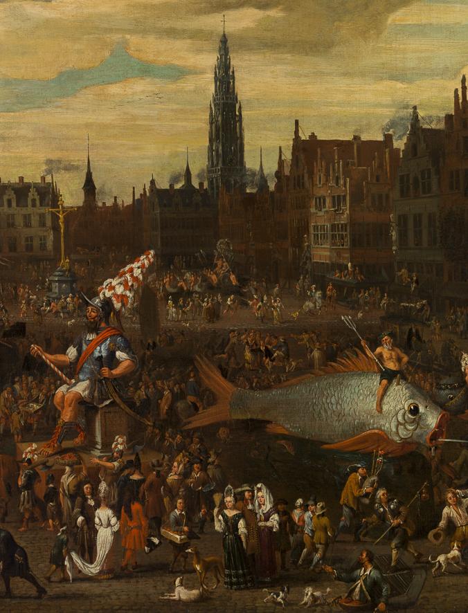 Schilderij - De oude ommegang op de Meir