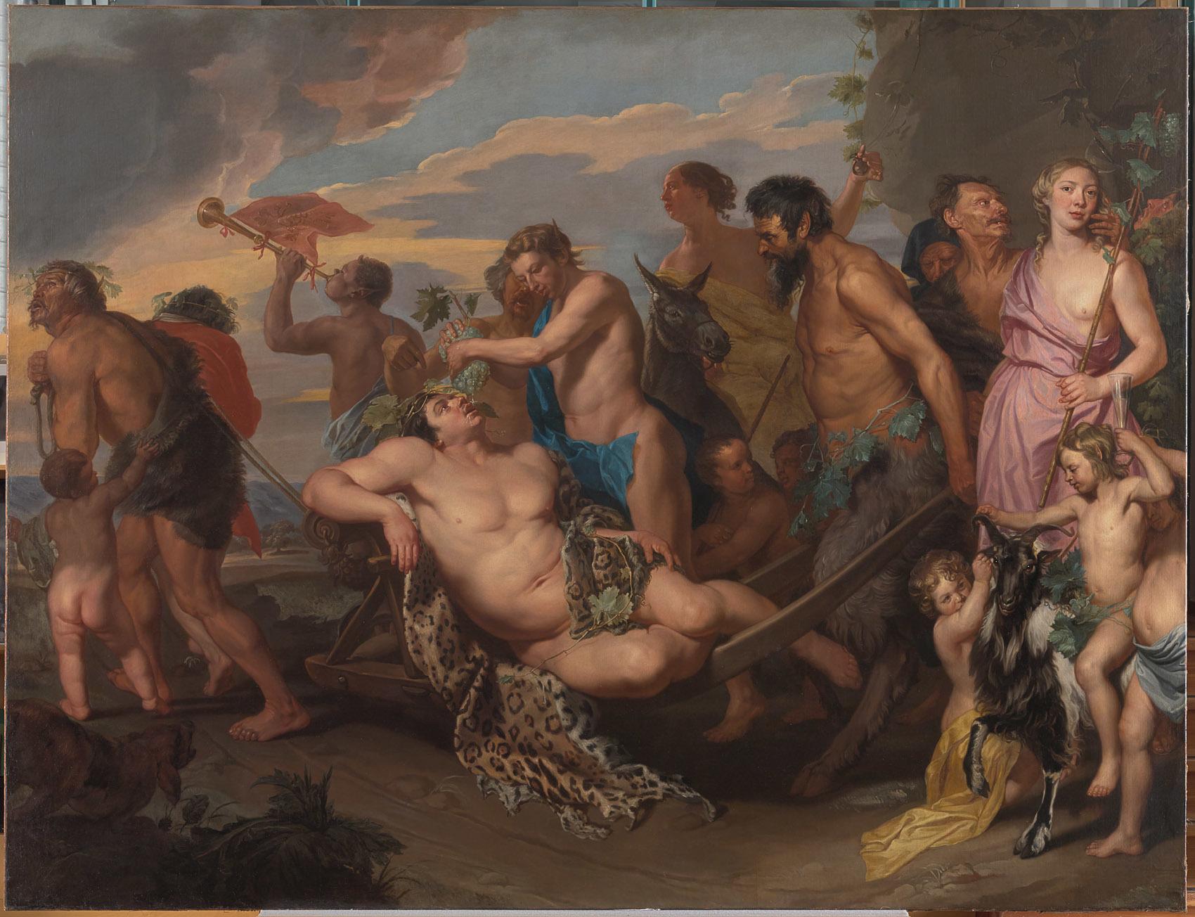 Bachusstoet, Michaelina Wautier - Kunsthistorisches Museum Wien, Gemäldegalerie